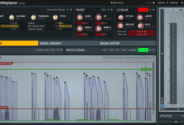 Melda Production MDrumReplacer tool plug-in software DAW drums audiofader