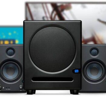 Presonus Eris Sub8 subwoofer rec home studio project mix monitor audio midi music audiofader