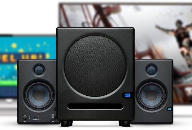 Presonus Eris Sub8 subwoofer rec home studio project mix monitor audio midi music audiofader