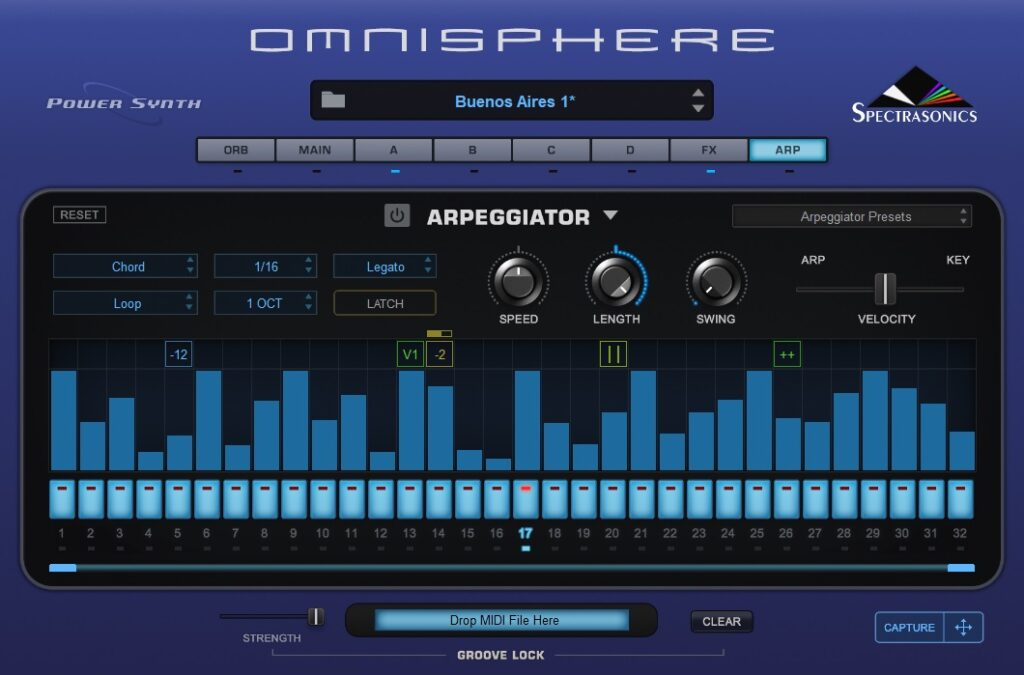 Spectrasonics Omnisphere key test virtual instrument vincenzo bellanova audiofader arpeggiator