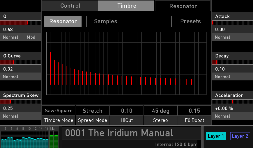 Waldorf Iridium filter bank programming opinions luca pilla audiofader