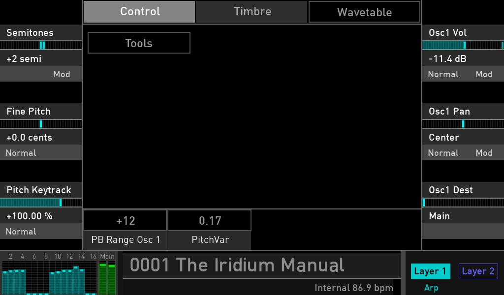 Waldorf Iridium synth luca pilla audiofader