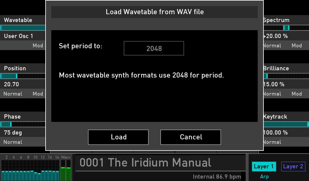 Waldorf Iridium wavetable luca pilla audiofader