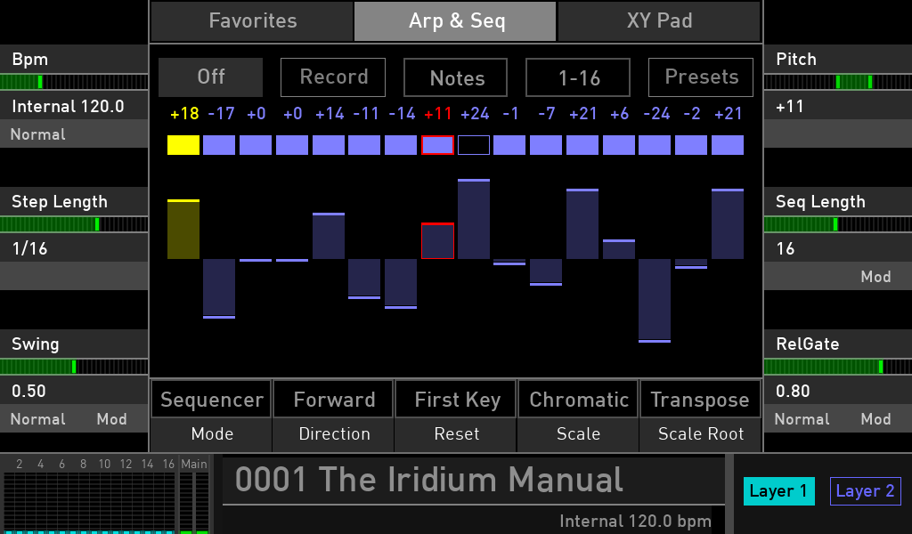 Waldorf Iridium test step sequencer luca pilla audiofader