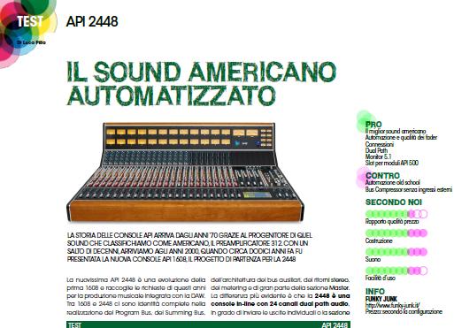 audiofader 24 api 2448 opinioni recensione