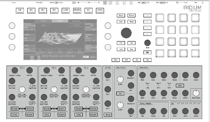 Waldorf Iridium user manual audiofader