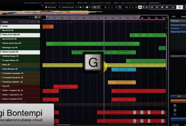 tutorial steinberg cubase daw software zoom videotutorial pierluigi bontempi audiofader