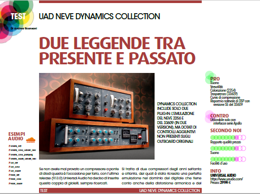 audiofader 24 neve dynamics collection recensione opinioni