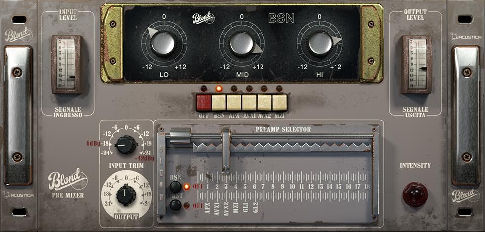 Acustica Audio blond premixer recensione review test luca pilla audiofader binson