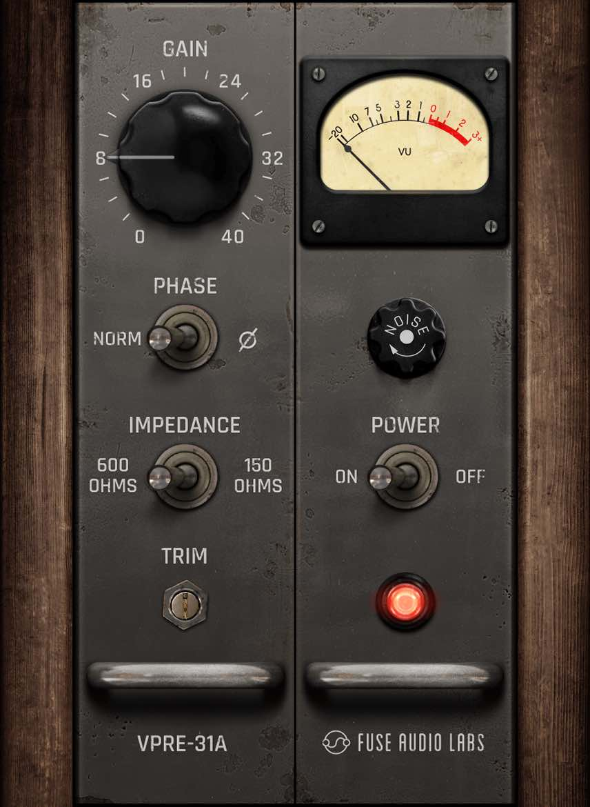 Fuse Audio Labs VPRE-31A plug-in audio software mix daw mixing preamp germanium audiofader