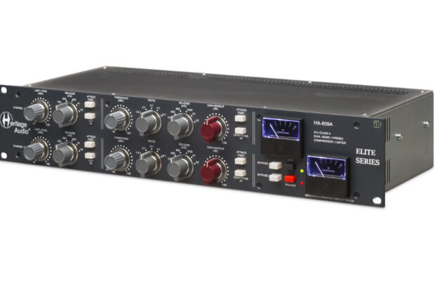 Heritage Audio HA-609A review test recensione hardware outboard recording mixing limiter compressor midi music audiofader andrea scansani