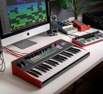 Ik Multimedia UNO Synth Pro Desktop sintetizzatore hardware digital audiofader mogar