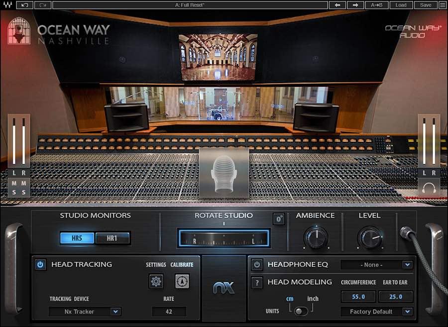 Waves NX Ocean Way Nashville studio recording mixing plug-in audio pro software audiofader
