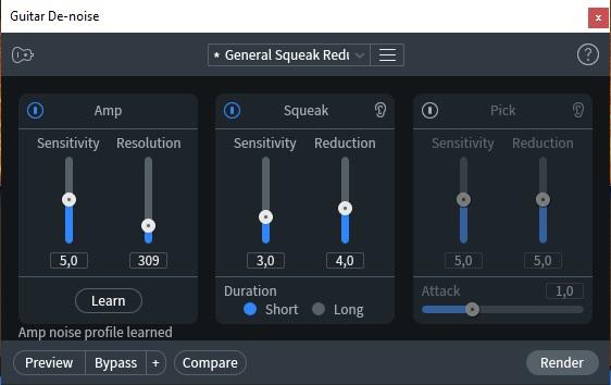 guitar denoise izotope rx8 post produzione audio restore repair pro studio vincenzo bellanova review recensione test midiware audiofader