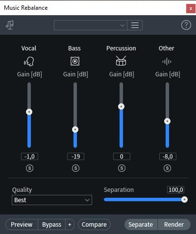 Music rebalance izotope rx8 post produzione audio restore repair pro studio vincenzo bellanova review recensione test midiware audiofader
