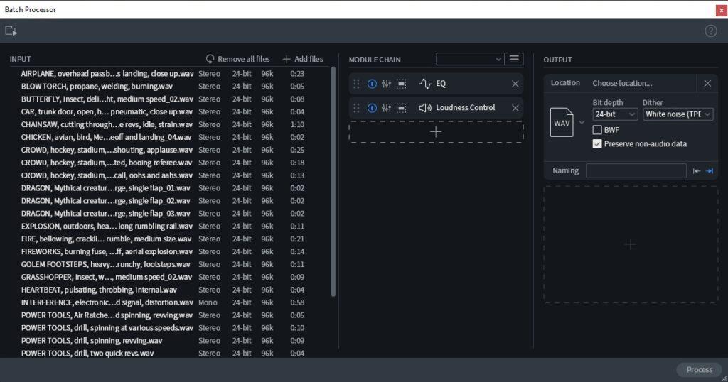 batch processor izotope rx8 post produzione audio restore repair pro studio vincenzo bellanova review recensione test midiware audiofader