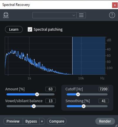 spectral recovery izotope rx8 post produzione audio restore repair pro studio vincenzo bellanova review recensione test midiware audiofader