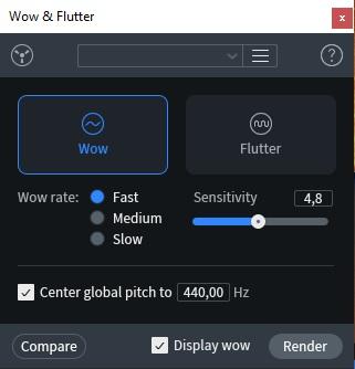 wow flutter izotope rx8 post produzione audio restore repair pro studio vincenzo bellanova review recensione test midiware audiofader