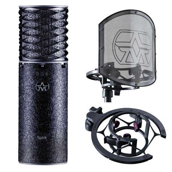 Aston Microphones spirit Black Bundle microfono recording studio audio pro distribution group audiofader