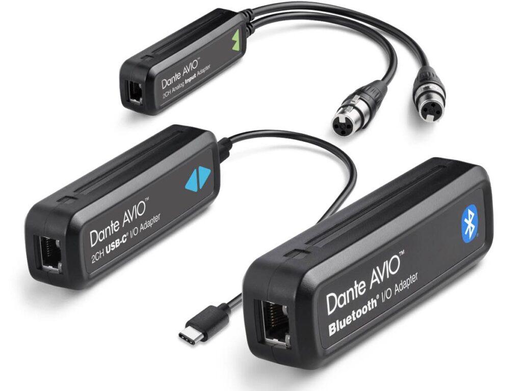 Audinate Dante AVIO Adapter hardware bluetooth audiofader