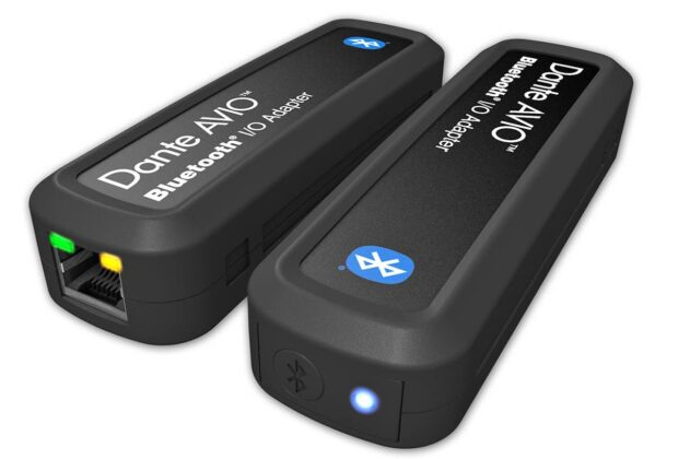 Audinate Dante AVIO Adapter hardware bluetooth audiofader