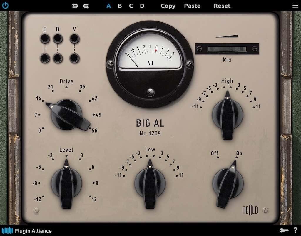 Plugin Alliance Neold BIG -AL software plug-in audio mixing tube saturator distorsore mix mastering audiofader