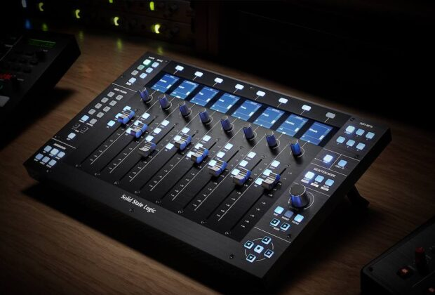 SSL UF8 daw controller solid state logic hardware midiware studio audio pro audiofader