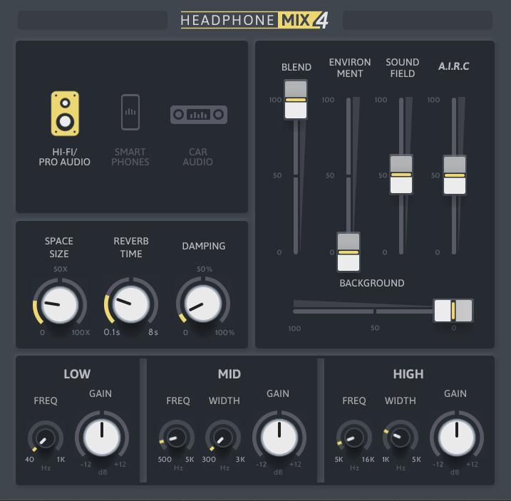 Soundmagic Headphone Mix 4 plug-in audio software audiofader