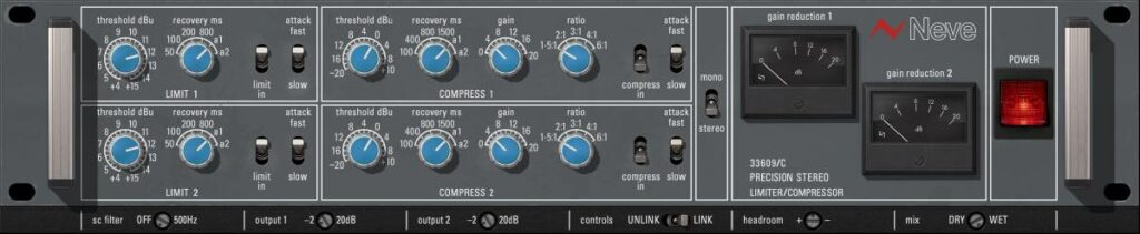 UAD Dynamics Collection neve 33609c test review opinioni recensioni andrea scansani audiofader midiware