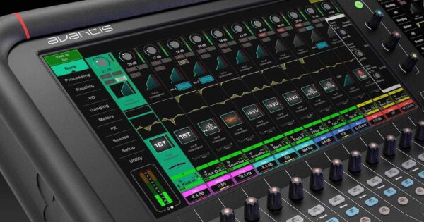 Allen&Heath Avantis firmware update software mixer live hardware exhibo audiofader
