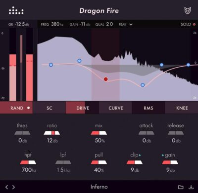 Denise Audio Dragon Fire compressor plug-in audio software daw mixing audiofader