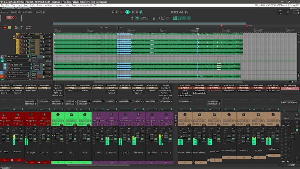 Flux Reavolution reaper software daw audio pro plug-in immersive audiofader