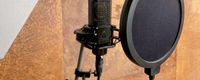 Lewitt pop filter microfono inchiesta video studio recording audiofader