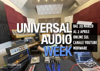 Universal Audio Week midiware online youtube enrico cosimi uad plug-in software daw audio pro audiofader