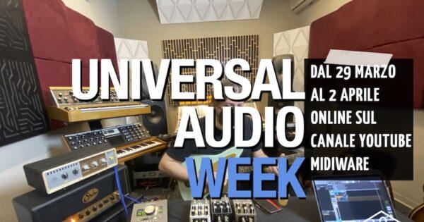 Universal Audio Week midiware online youtube enrico cosimi uad plug-in software daw audio pro audiofader