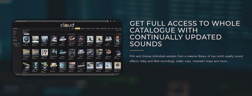Cinetools Cloud cinematic sound sample library online audiofader codice sconto