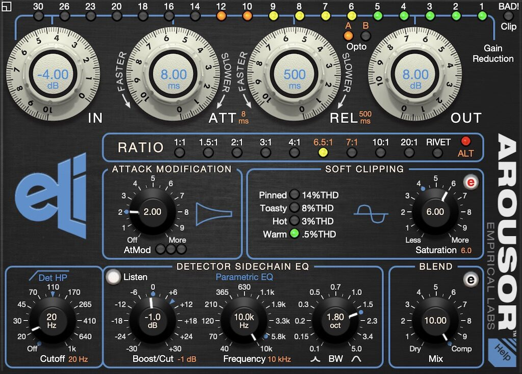 Empirical Labs Arousor plug-in audio mixing software daw audiofader distressor