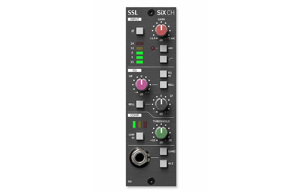 SSL 500 SiX CH hardware outboard rack midiware audiofader