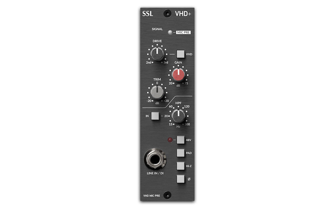SSL VHD+ pre di box hardware rack api 500 lunchbox midiware audiofader