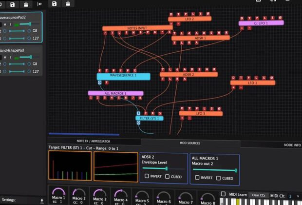 Tracktion Hyperion virtual instrument daw software music producer audiofader