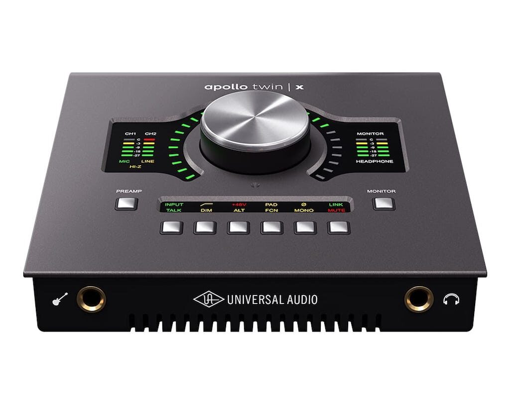 Universal Audio Apollo Twin X interfaccia recording home studio uad plug-in hardware midiware audiofader
