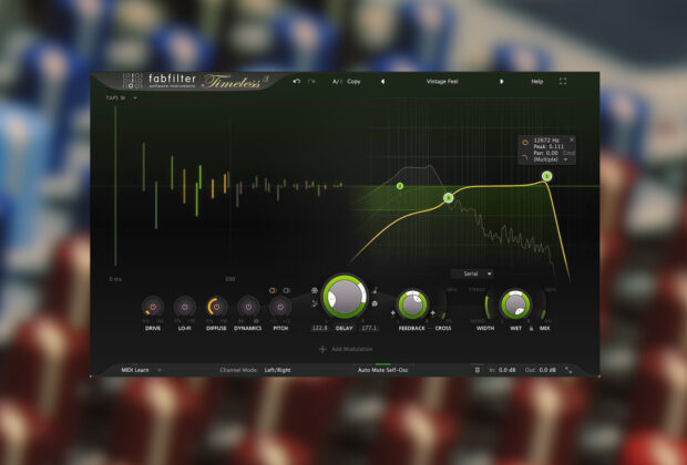 FabFilter Timeless 3 delay plug-in software daw mixing fx virtual prezzo audiofader