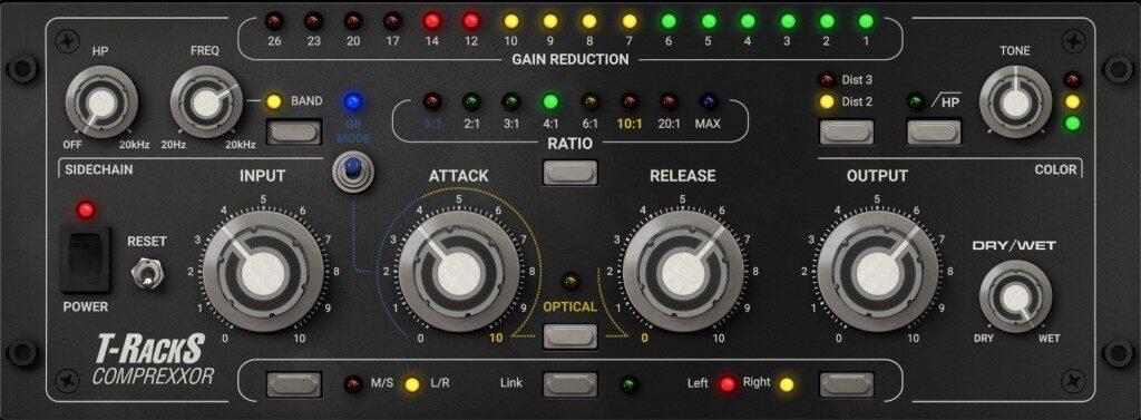 Ik Multimedia T-RackS Comprexxor plug-in distressor el8 empirical labs software mix daw audiofader
