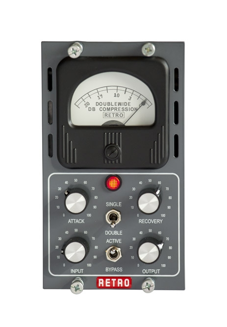 Retro Doublewide hardware test review recensione compressore api 500 rack outboard recording mix luca pilla audiofader