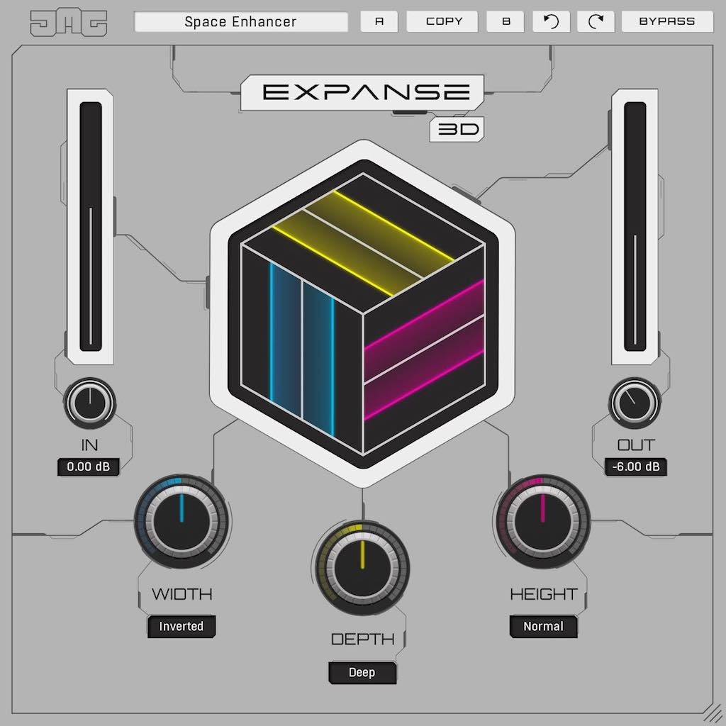 United Plugins Expanse 3D software mixing audio software strumentimusicali