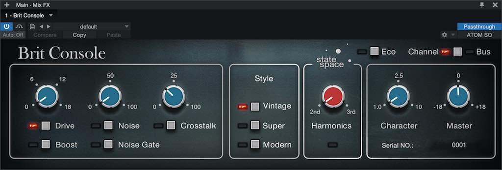 Presonus Retro Mix Legends plug-in mix bundle software audio itb Brit Console audiofader