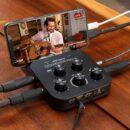 Roland GOMixer Pro-X interfaccia audio mobile recording live broadcast hardware audiofader