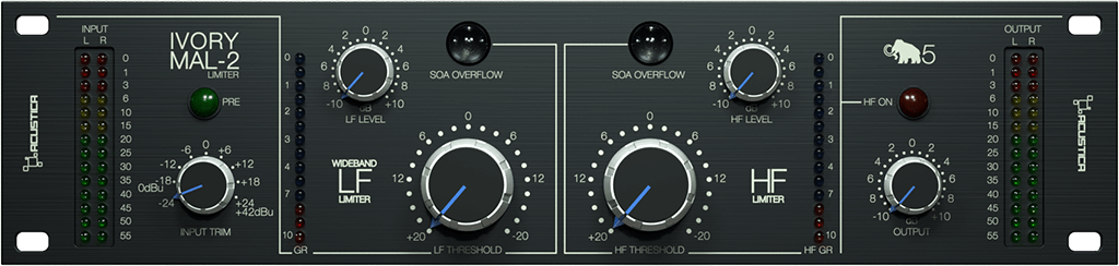 Acustica Audio Ivory5 software daw plug-in mastering in the box virtual audiofader limiter maselec