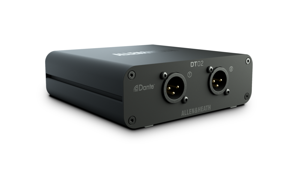Allen&Heath DT02 expander interfaccia live dlive avantis audio pro network dante exhibo audiofader