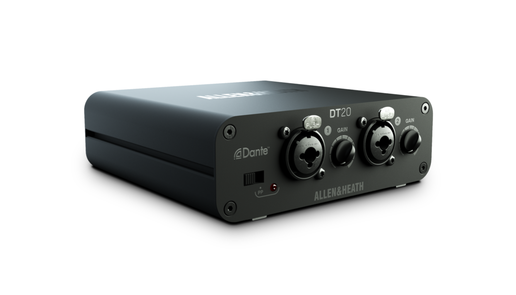 Allen&Heath DT20 expander interfaccia live dlive avantis audio pro network dante exhibo audiofader